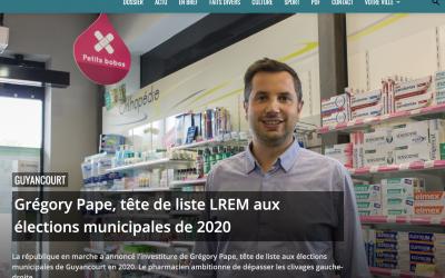 Grégory PAPE, tête de liste LREM aux élections municipales de 2020 – LA GAZETTE Saint-Quentin-En-Yvelines