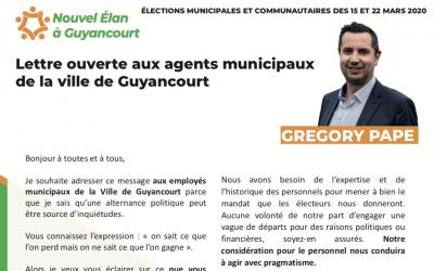 Lettre ouverte aux agents municipaux de la ville de Guyancourt